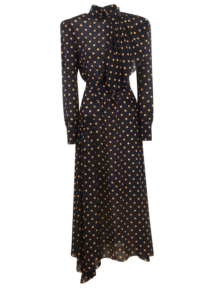 Alessandra Rich Polka Dot Dress in black / orange