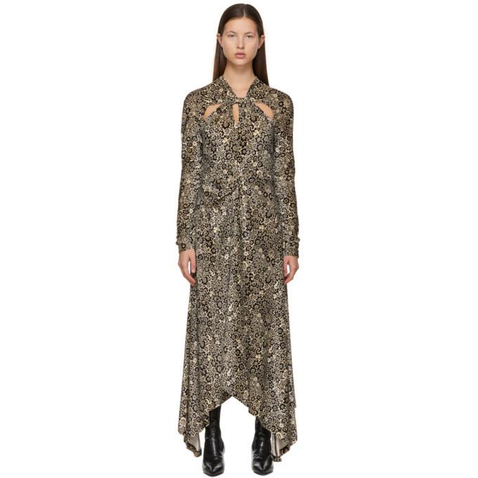 Rosetta Getty Brown Twist Knot Dress in multi
