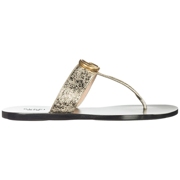 Gucci Leather Flip Flops Sandals Doppia G