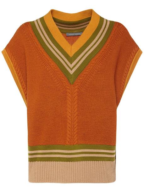 ALBERTA FERRETTI Wool Knit Sweater in brown / multi