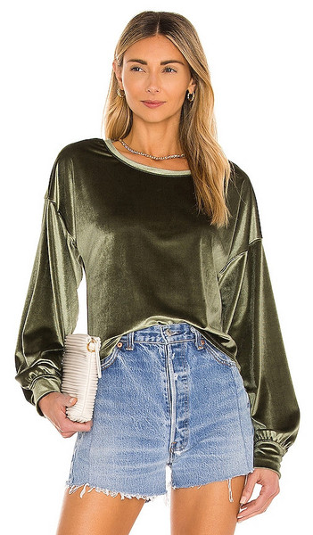 Lovers + Friends Lovers + Friends Euna Pullover in Olive in green