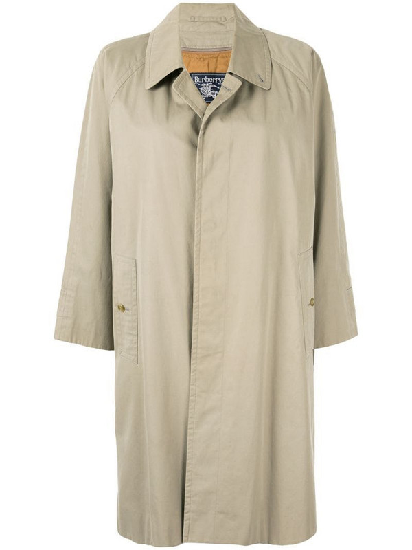 Burberry Pre-Owned straight buttoned coat in brown