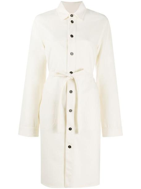 Jil Sander tie-waist shirt dress in white