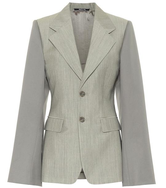 Maison Margiela Single-breasted blazer in grey