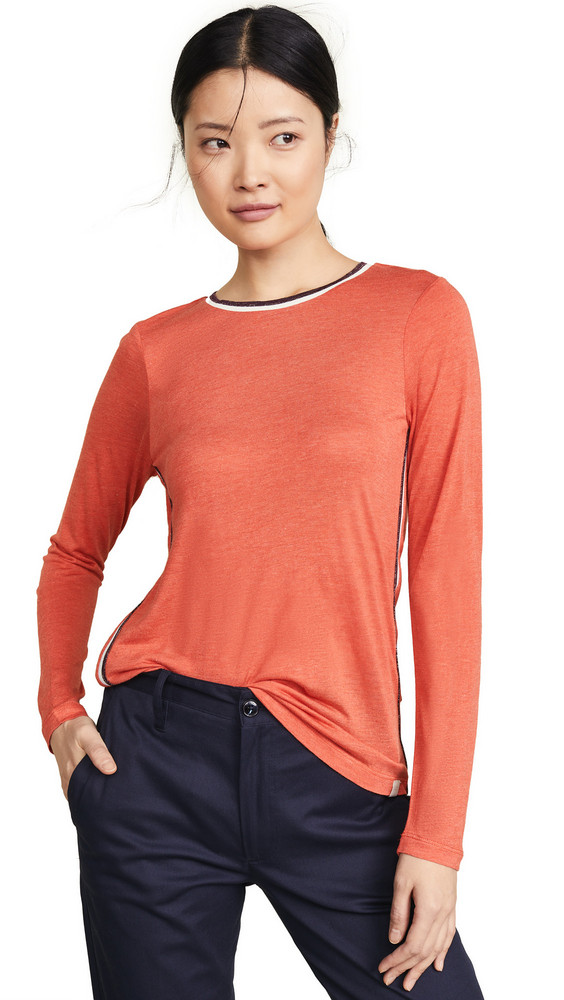 Scotch & Soda/Maison Scotch Long Sleeve Tee in coral