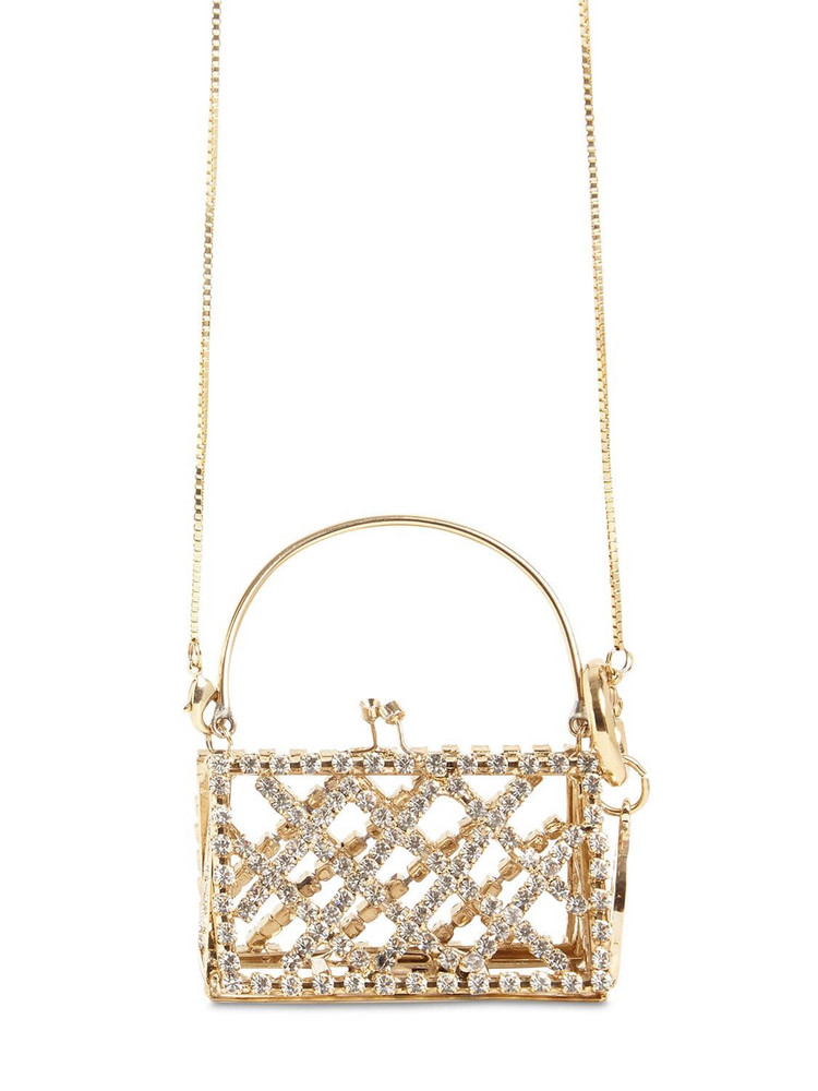 ROSANTICA Baby Garofano Crystal Long Necklace Bag in gold