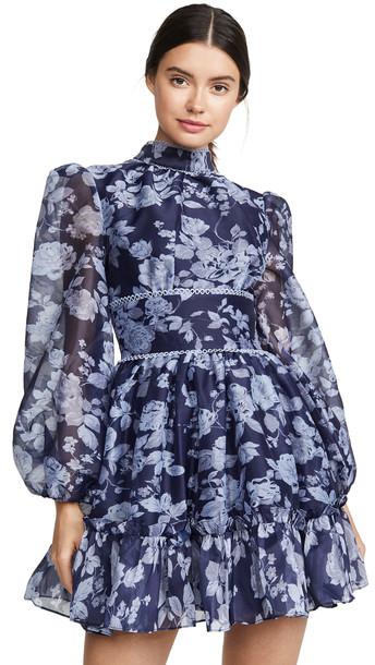Keepsake Halo Dress in navy