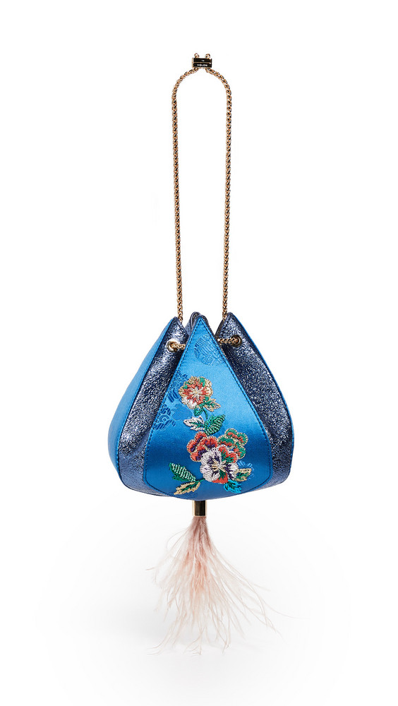 THE VOLON Cindy Flower Bag in blue