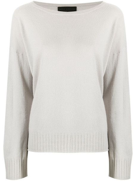 Nili Lotan relaxed cashmere jumper in grey