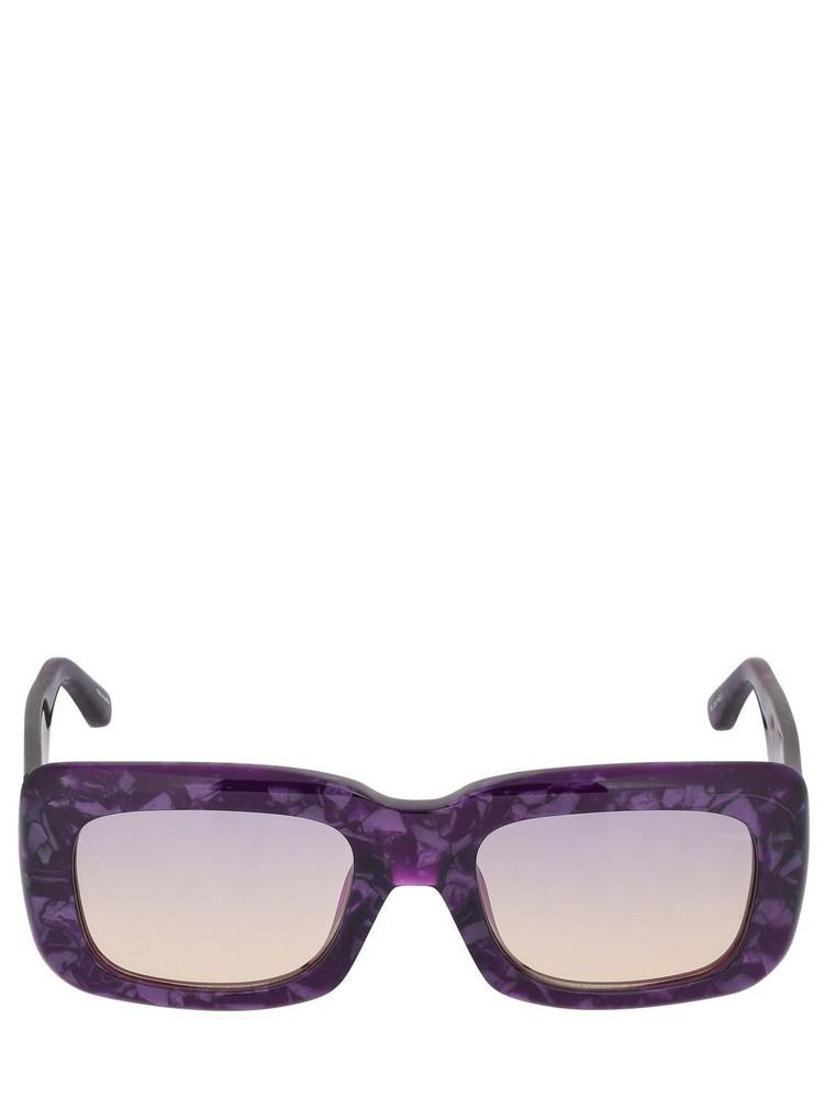 THE ATTICO Marfa Squared Acetate Sunglasses in purple