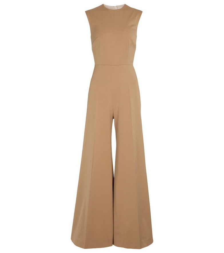 Emilia Wickstead Ena stretch-cady jumpsuit in beige