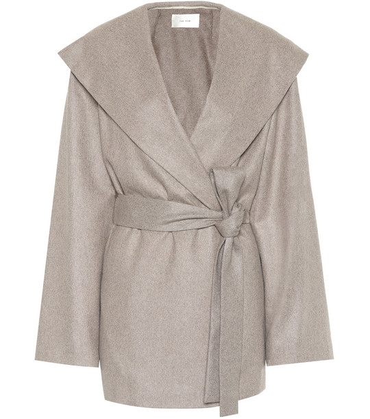 The Row Reyna cashmere jacket in beige