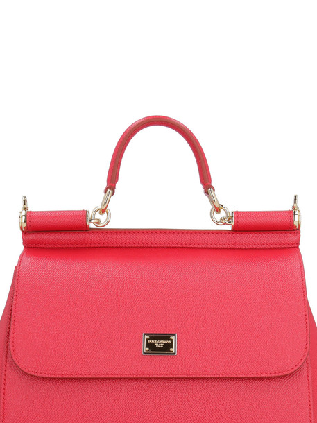 Dolce & Gabbana Sicily Leather Handbag in red