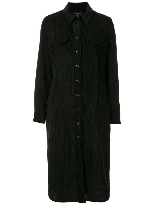Alcaçuz Roteiro long sleeves shirt dress in black