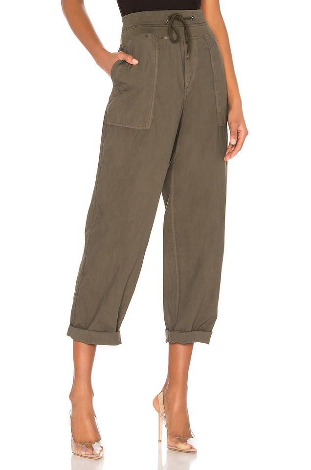 James Perse Mixed Media Poplin Pant