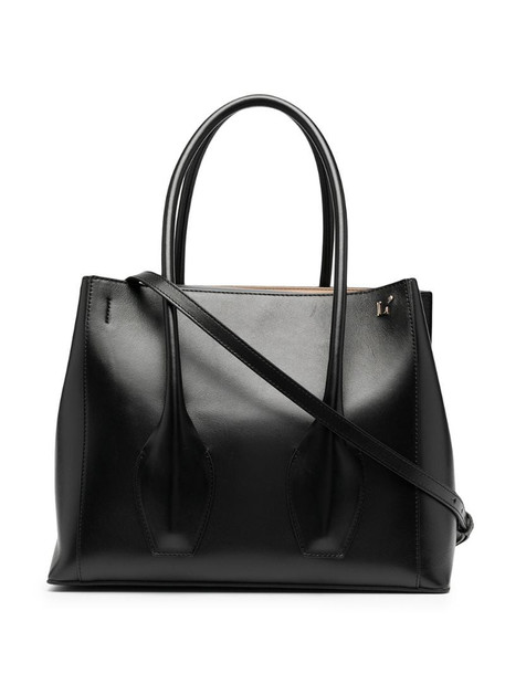 L'Autre Chose large leather tote bag in black