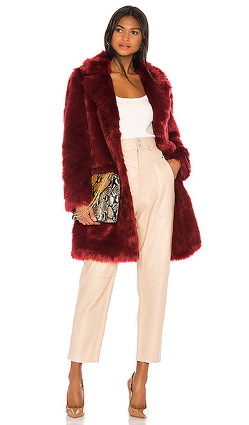 Song of Style Maverick Coat in Red