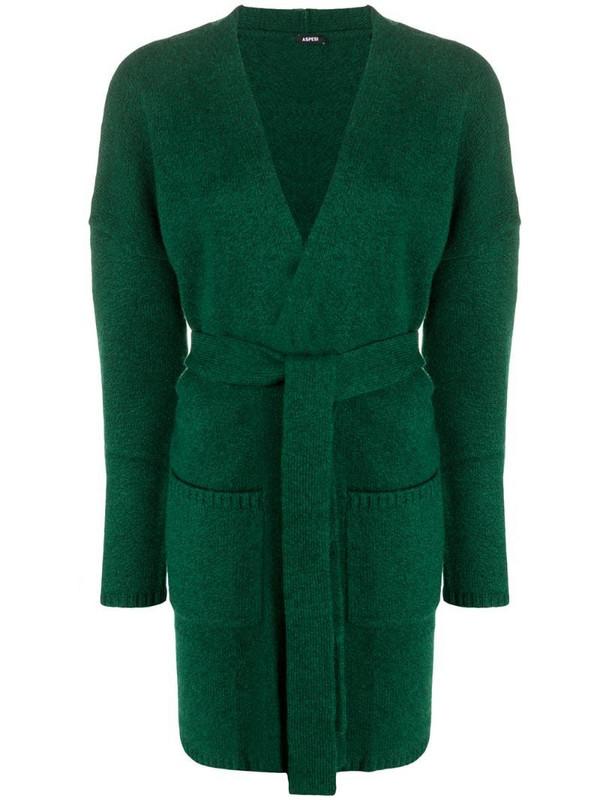 Aspesi long-sleeve wool card-coat in green
