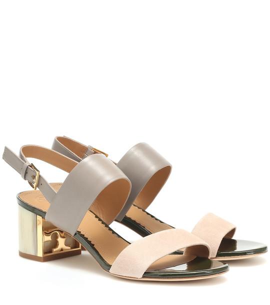 Tory Burch Gigi leather sandals in grey