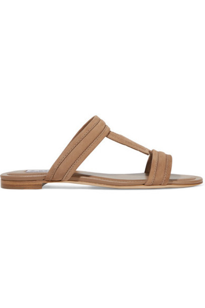 Tod's - Suede Slides - Brown