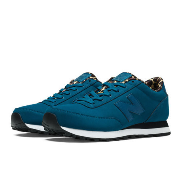 New Balance High Roller 501 Women's Lifestyle Shoes - Teal, Leopard Print (WL501NO)