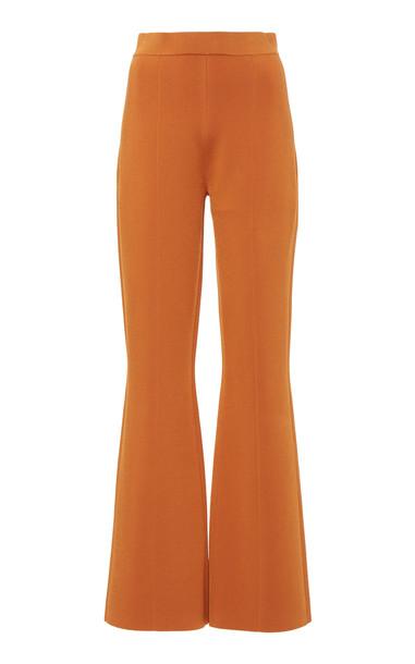 Joseph Knit Flared-Leg Pants in orange