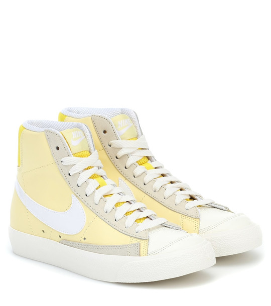 Nike Blazer Mid '77 leather sneakers in yellow
