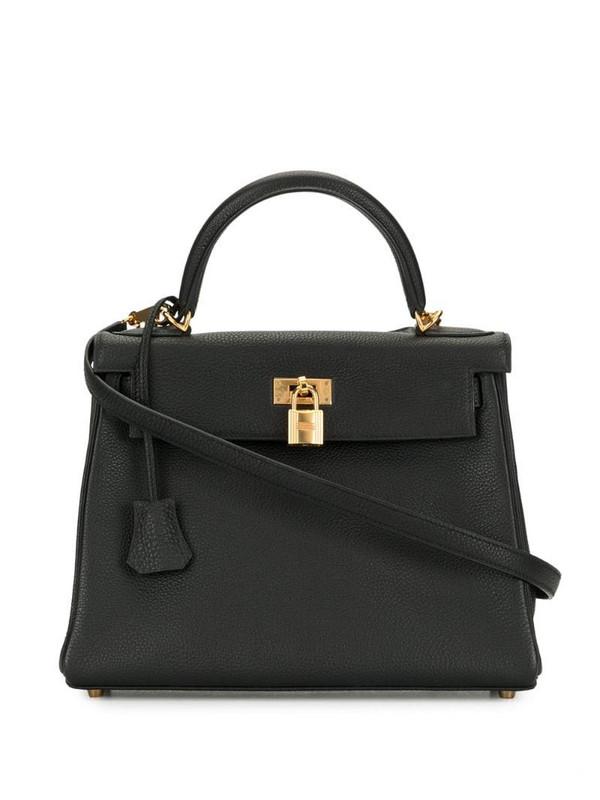 Hermès 2000s pre-owned Kelly 28 Retourne 2way bag in black