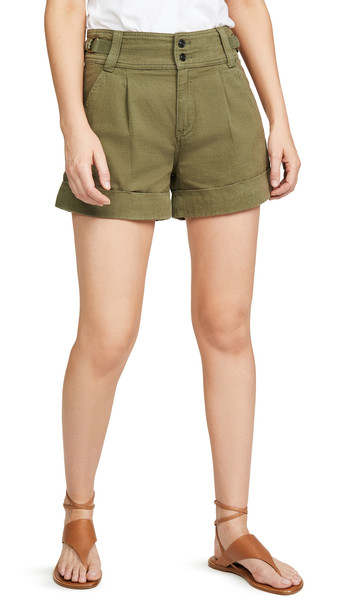 Current/Elliott The Relaxed Army Shorts in green
