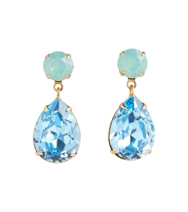 Jennifer Behr Jill crystal earrings in blue