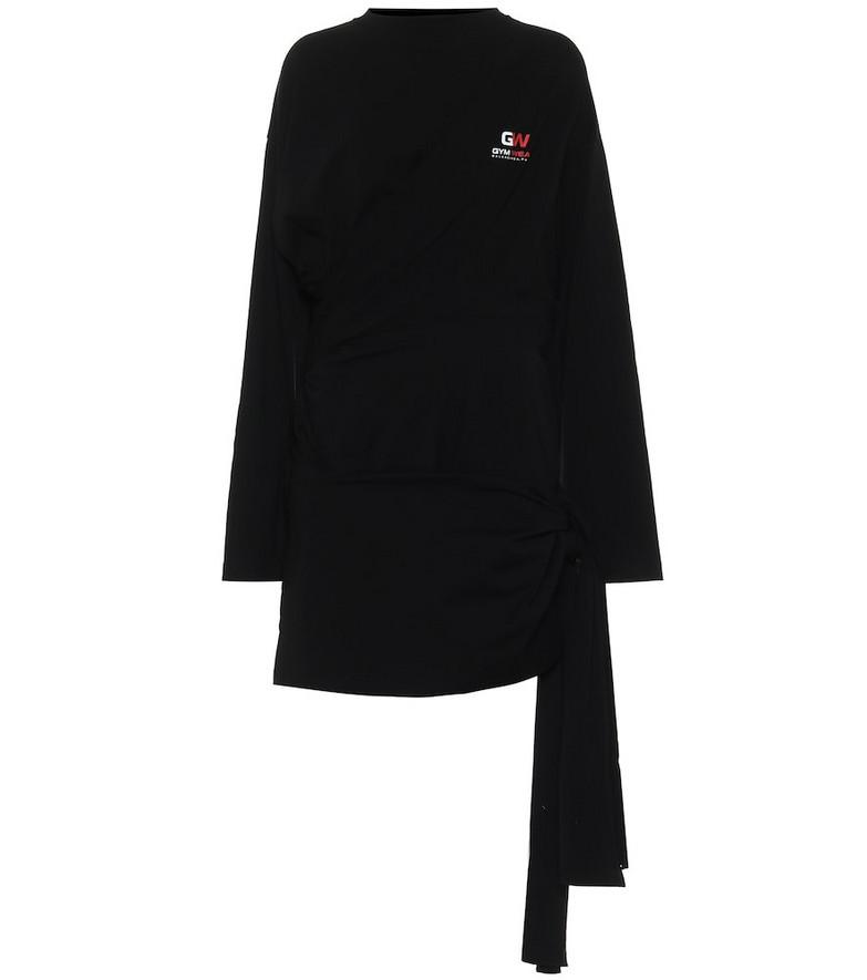 Balenciaga Stretch-cotton minidress in black