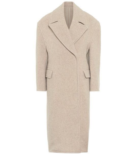 Acne Studios Wool-blend double-breasted coat in beige