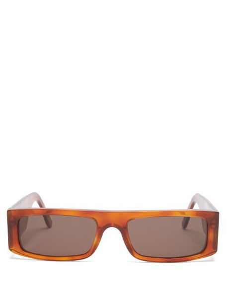Andy Wolf - Hume Rectangular Acetate Sunglasses - Womens - Brown