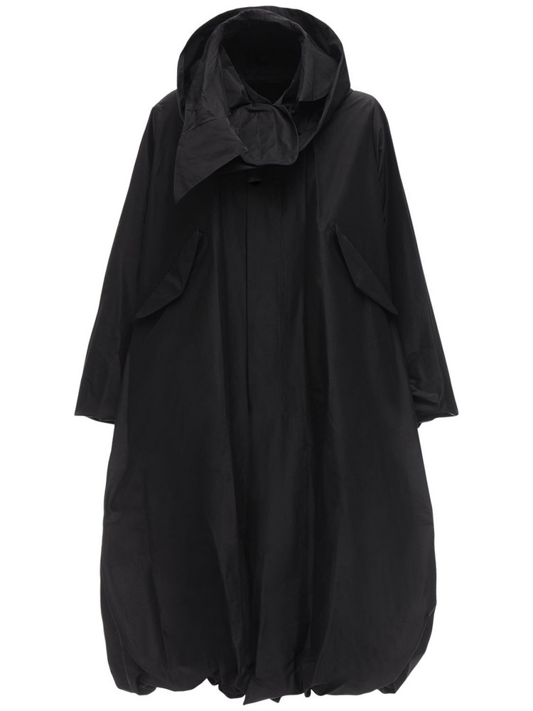 NOIR KEI NINOMIYA Cotton & Silk Taffeta Jacket in black