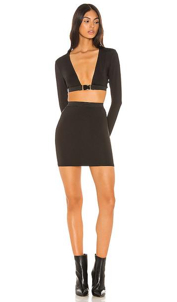 superdown Reia Buckle Skirt Set in Black
