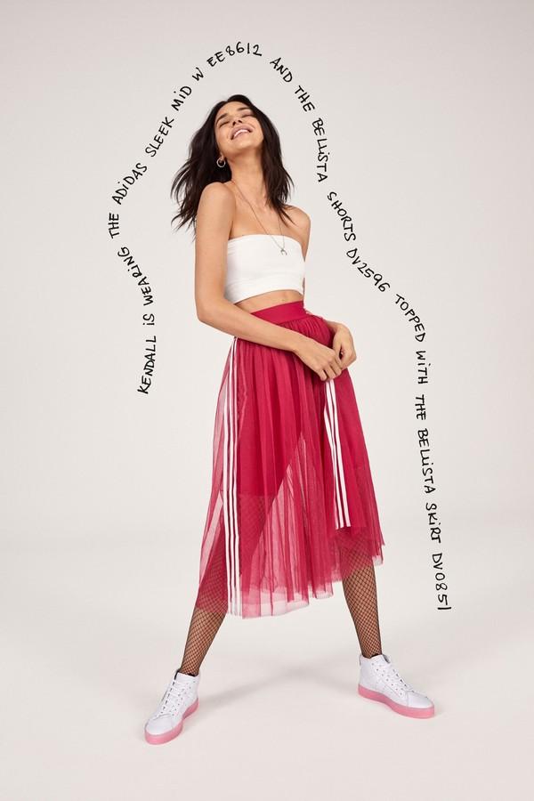 skirt adidas celebrity kendall jenner kardashians model midi skirt tulle skirt
