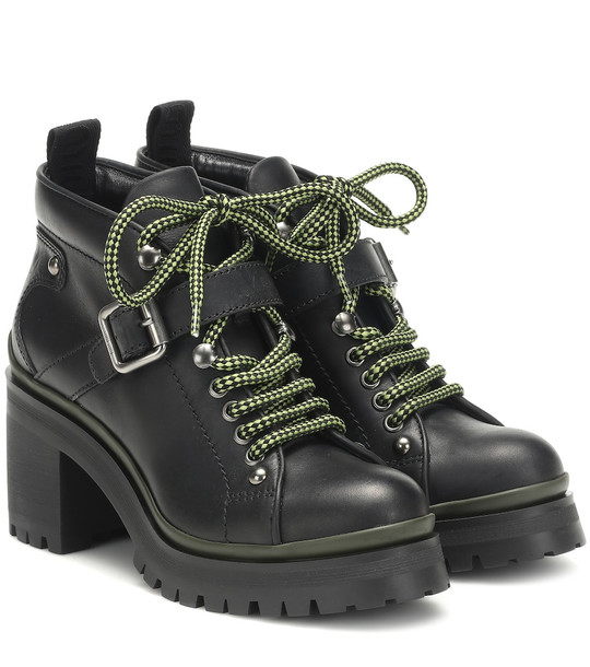 Miu Miu Leather ankle boots in black