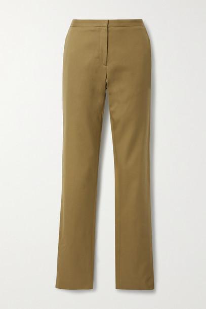 PETAR PETROV - Gema Cotton-twill Slim-leg Pants - Green