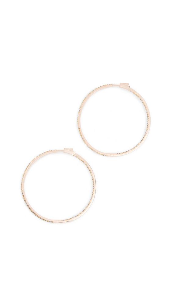Nickho Rey Evie Slim Hoop Earrings in white / yellow