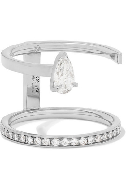 Repossi - Serti Sur Vide 18-karat White Gold Diamond Ring