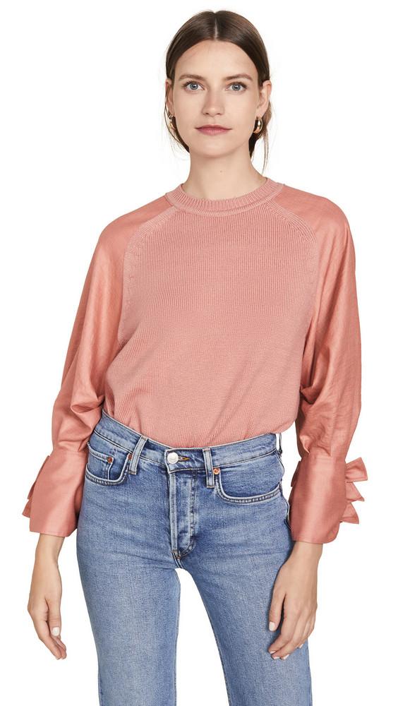 Adeam Bow Cuff Sweater in peach
