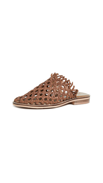 Free People Mirage Woven Flats in tan