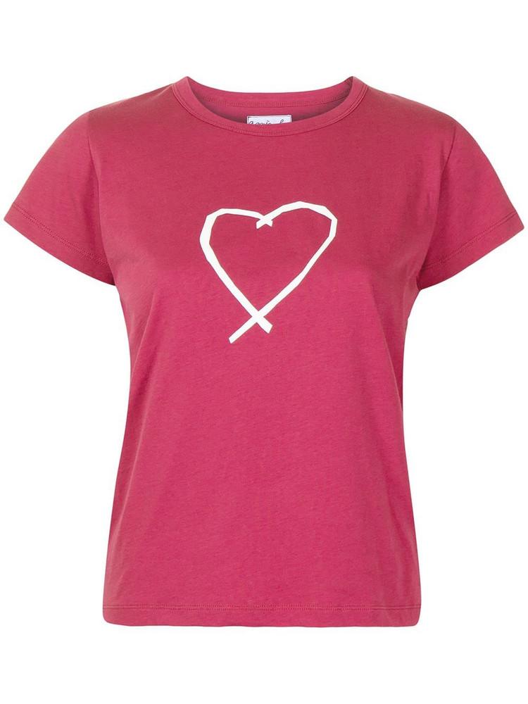 agnès b. agnès b. heart-print round-neck T-shirt - Red