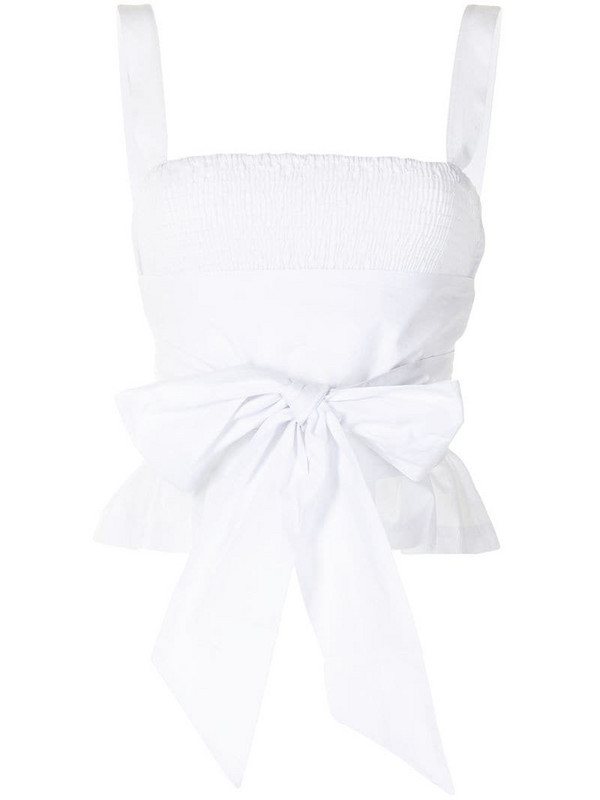 Ciao Lucia tie-waist top in white