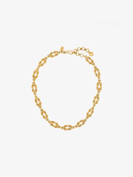 Brinker & Eliza Gold tone Love Knot necklace