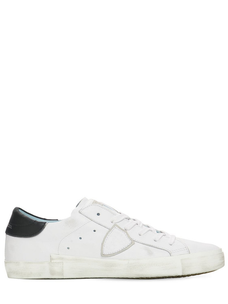 PHILIPPE MODEL Paris Leather & Suede Sneakers in black / white