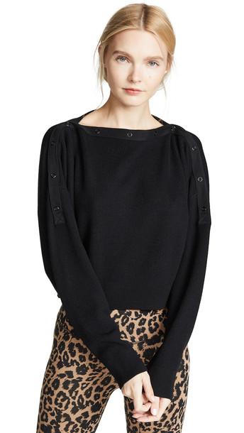 alexanderwang.t Snap Detail Sweater in black