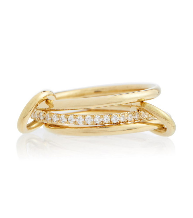 Spinelli Kilcollin Sonny 18kt yellow gold linked rings with diamonds