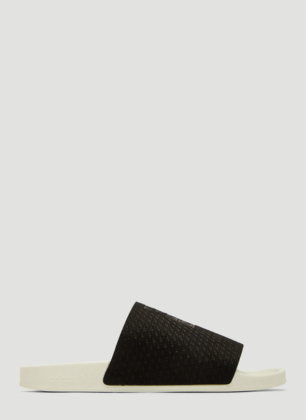 Adidas Adilette Luxe Slides in Black size UK - 05