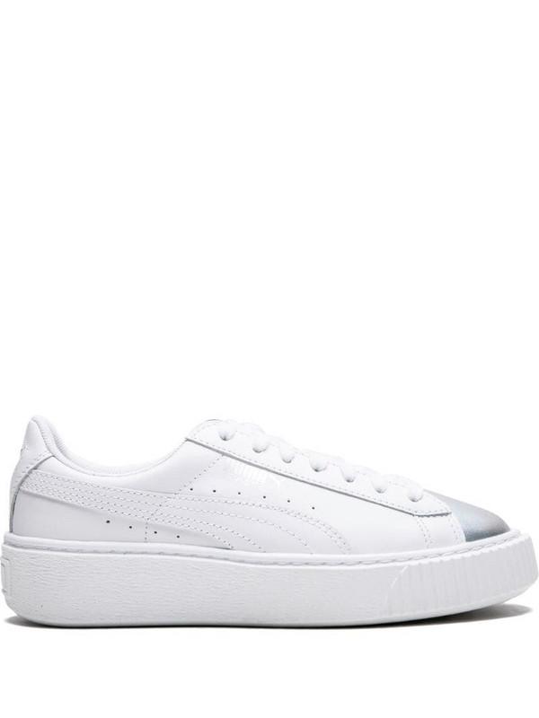 Puma contrast toe cap sneakers in white